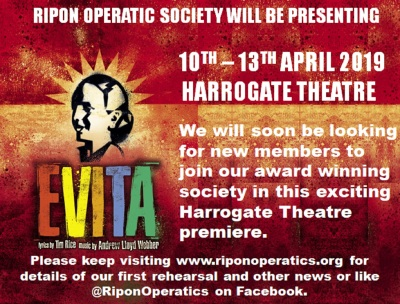 RAOS present Evita - First Rehearsals 19:30 on Friday 12th October 2018